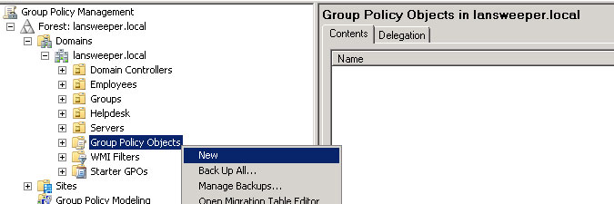 creating a group policy